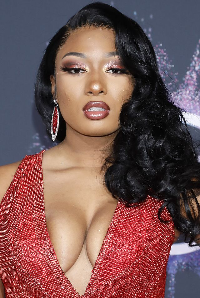 los angeles, california, united states   november 24, 2019    megan thee stallion at the 2019 american music awards arrivals at microsoft theater   photograph by p lehman  barcroft media photo credit should read p lehman  barcroft media via getty images
