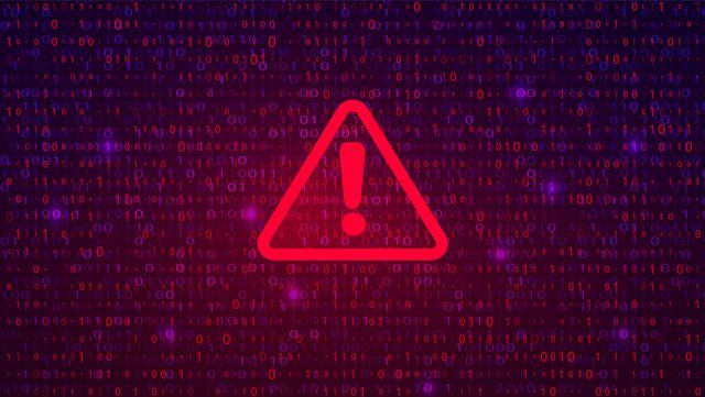 abstract technology binary code dark red background cyber attack, ransomware, malware, scareware concept