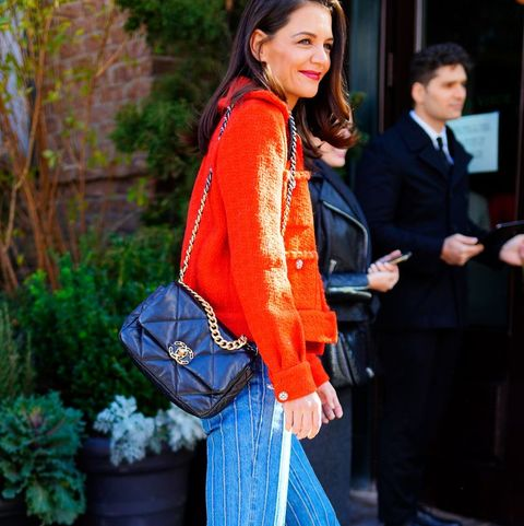 Katie Holmes Rewears Chanel Flap Bag In Another Epic Fall Look