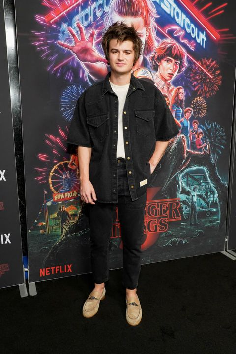 hollywood, california   november 09 joe keery attends a photocall for netflixs stranger things season 3 at linwood dunn theater at the pickford center for motion study on november 09, 2019 in hollywood, california photo by rachel lunafilmmagic