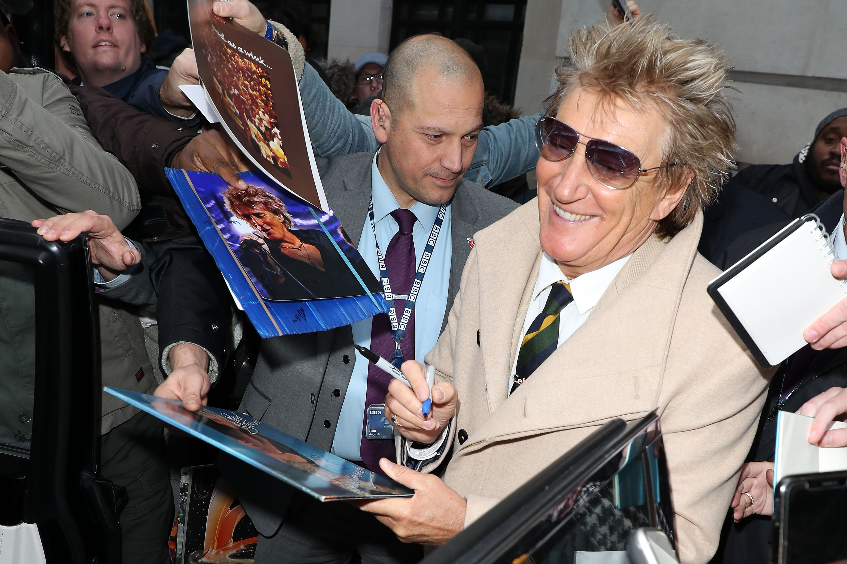 Rod Stewart and His Outfit Are Having the Time of Their Lives