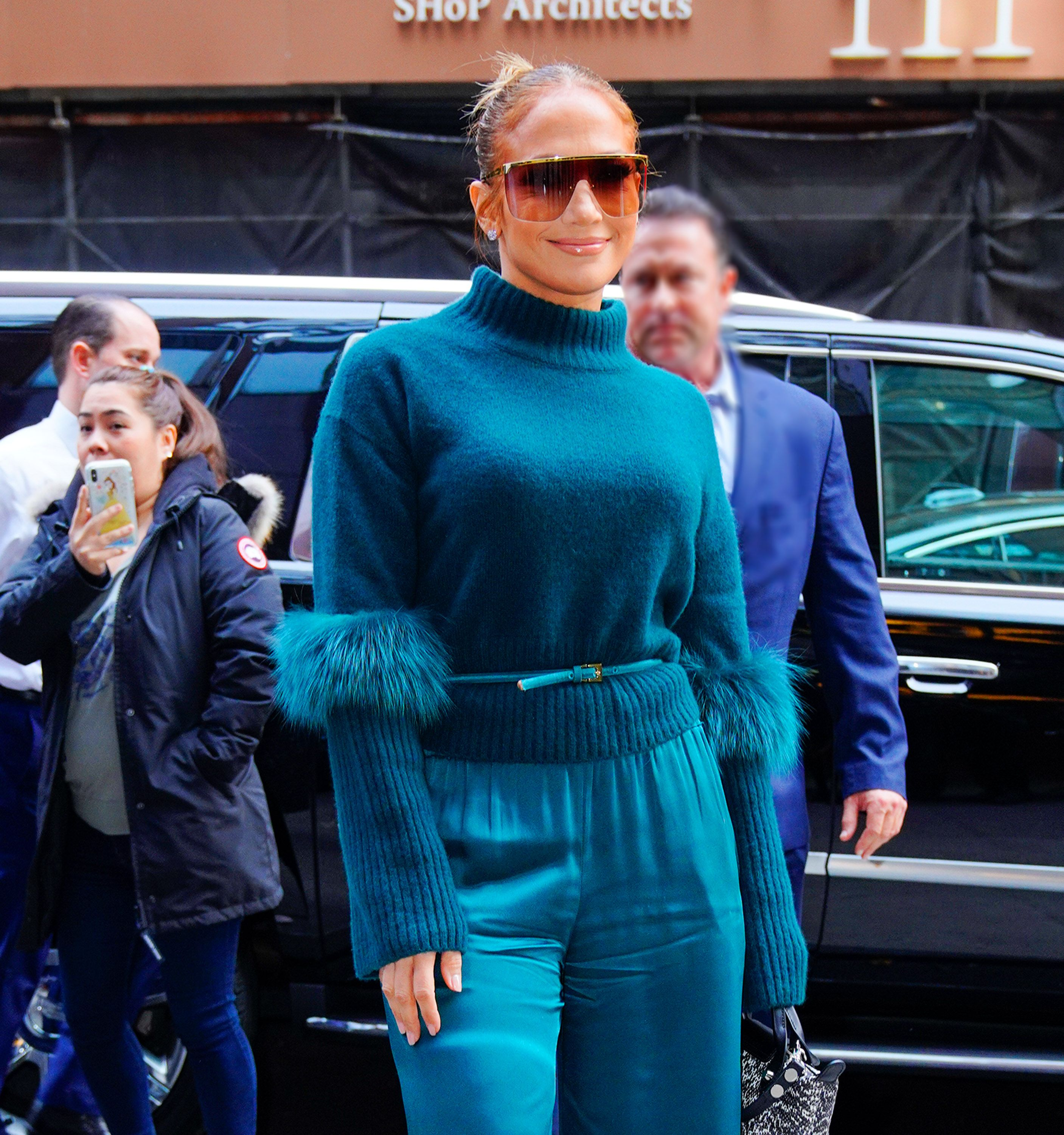 Jennifer Lopez Updated Her Hair for Winter With a Layered, Asymmetric Bob and Blonde Highlights