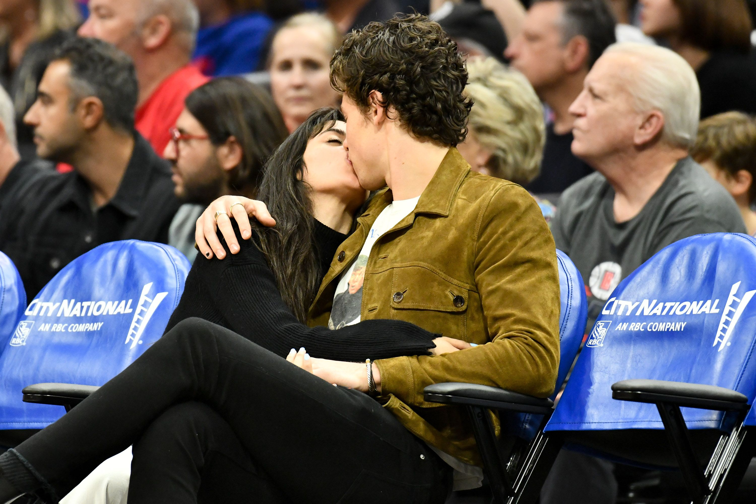Shawn Mendes and Camila Cabello Are Now Making Out and Showing All the PDA at NBA Games