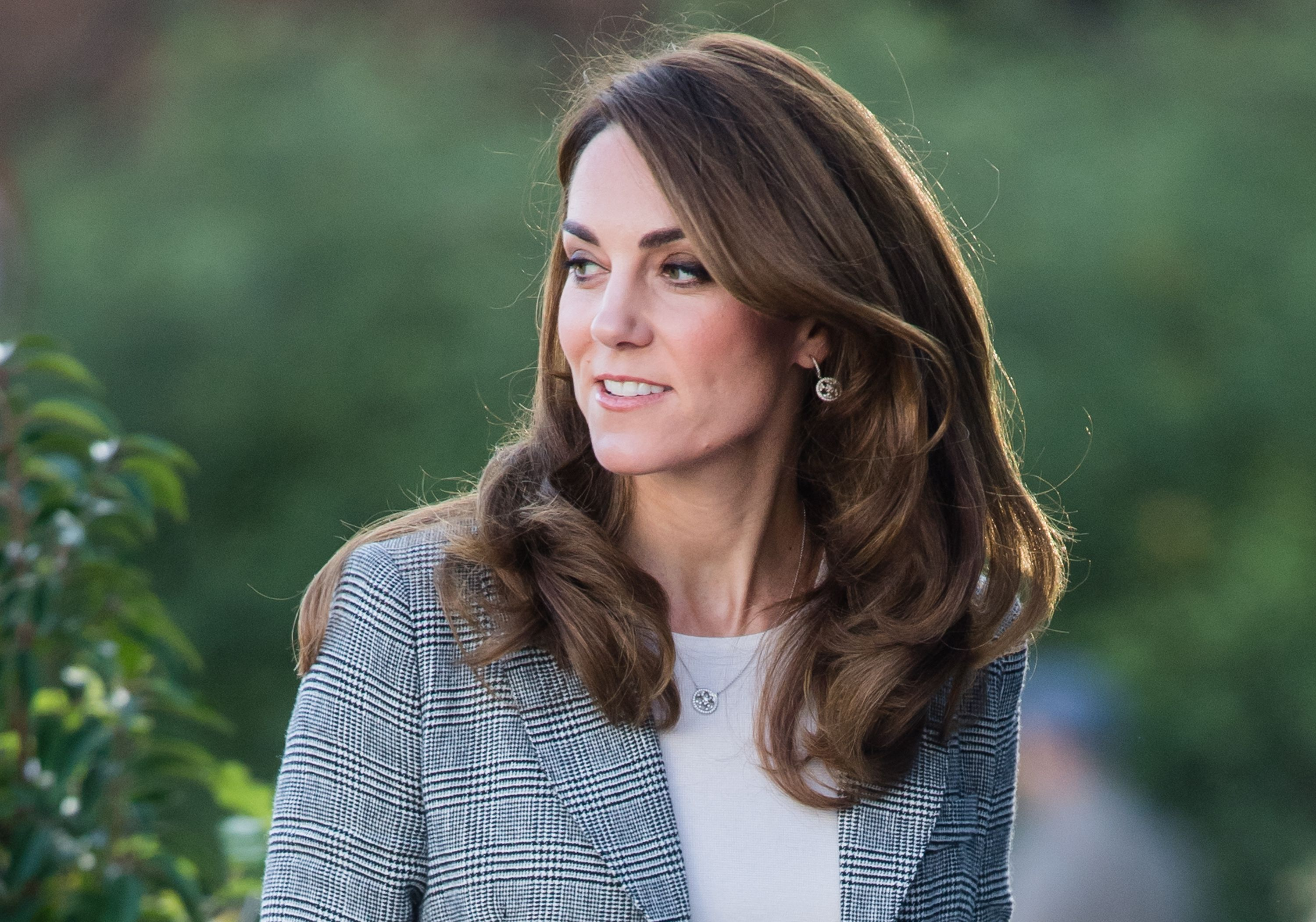 Kate Middleton steps out in stylish burgundy and check look