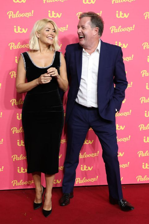 london, england   november 12 holly willoughby and piers morgan attend the itv palooza 2019 at the royal festival hall on november 12, 2019 in london, england photo by lia tobygetty images