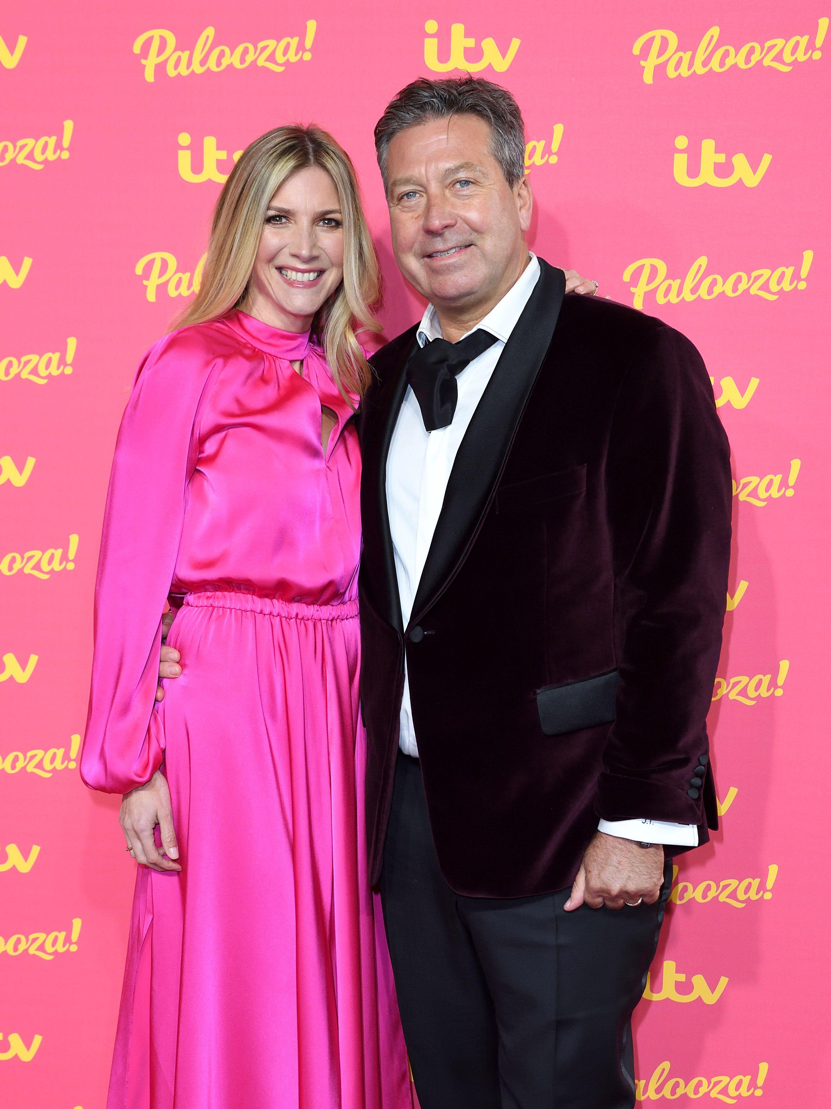 John Torode and Lisa Faulkner hit the red carpet as newlyweds