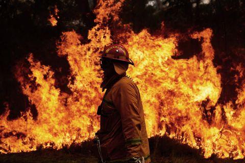 Firefighters Remain On High Alert As Bushfire Conditions Ease Across NSW