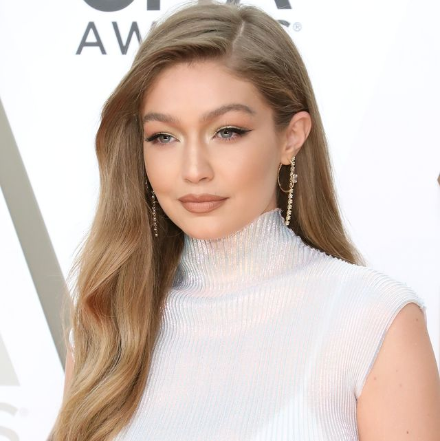 nashville, tennessee   november 13 for editorial use only  gigi hadid attends the 53nd annual cma awards at bridgestone arena on november 13, 2019 in nashville, tennessee photo by taylor hillgetty images