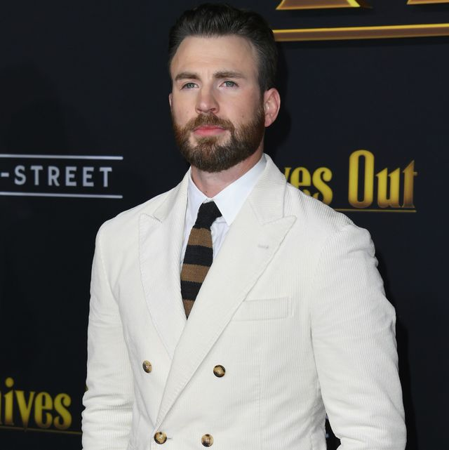 westwood, california   november 14  chris evans attends the premiere of lionsgates knives out at regency village theatre on november 14, 2019 in westwood, california photo by jon kopaloffgetty images,