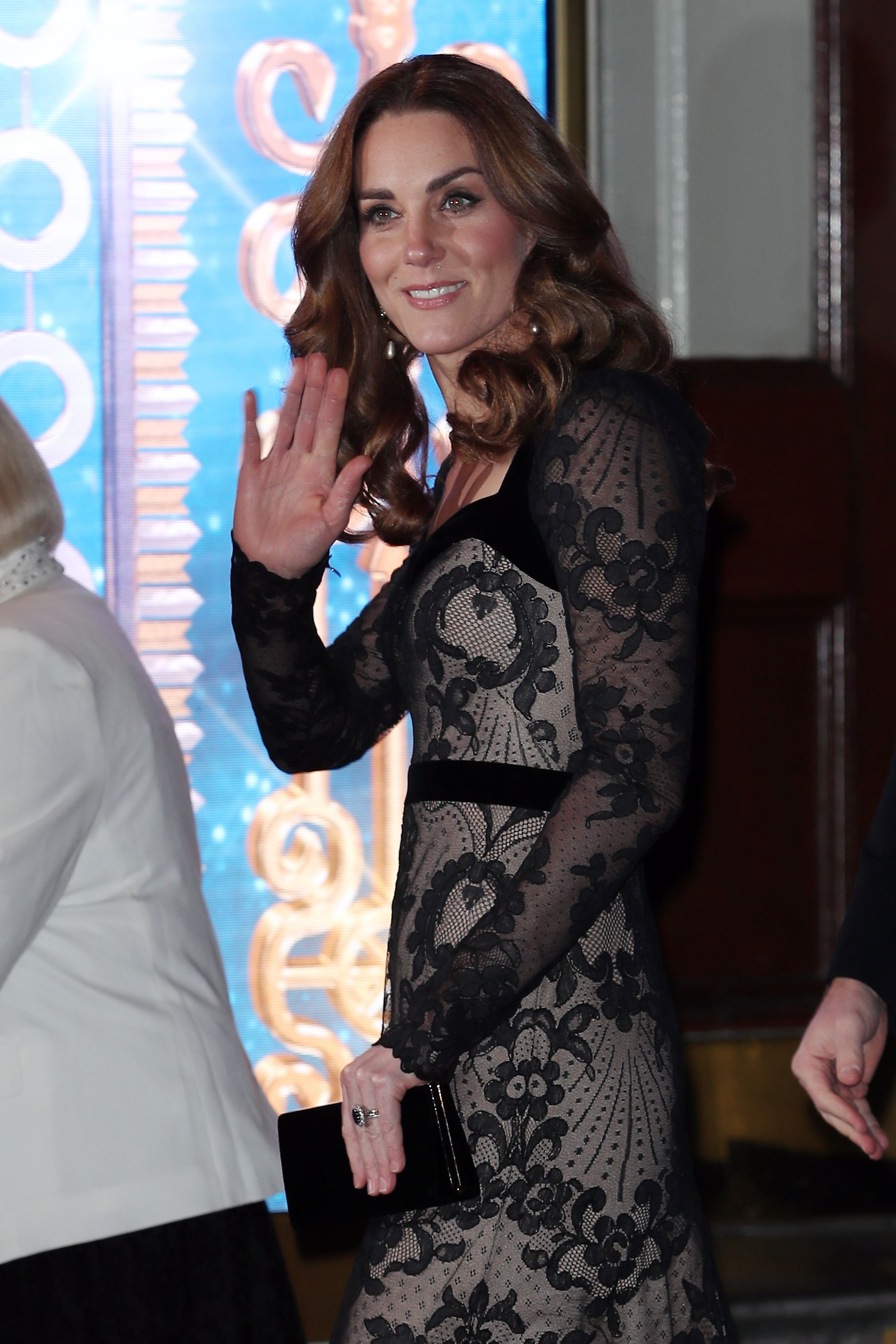 The Duchess of Cambridge looks chic in semi-sheer gown at the Royal Variety Performance