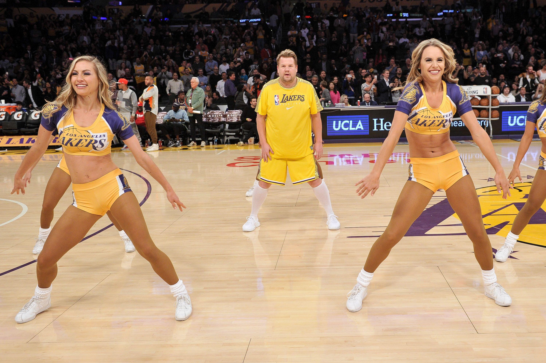 James Corden Venus Williams Rob Gronkowski Lakers