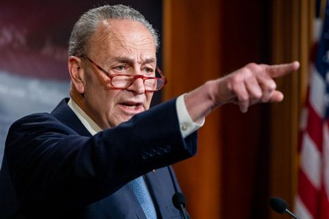 Sen. Chuck Schumer Holds Press Conference On Capitol Hill
