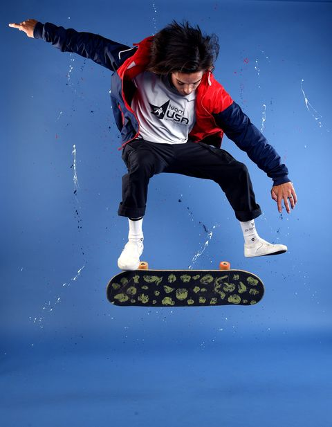 west hollywood, california   november 22 skateboarder heimana reynolds poses for a portrait during the team usa tokyo 2020 olympic shoot on november 22, 2019 in west hollywood, california photo by harry howgetty images
