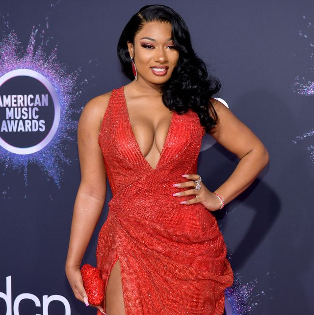 los angeles, california   november 24 megan thee stallion attends the 2019 american music awards at microsoft theater on november 24, 2019 in los angeles, california photo by rodin eckenrothfilmmagic