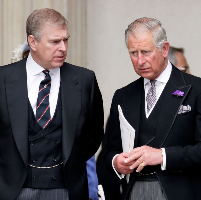 london, united kingdom   june 05 embargoed for publication in uk newspapers until 24 hours after create date and time prince andrew, duke of york and prince charles, prince of wales attend a service of thanksgiving to celebrate queen elizabeth iis diamond jubilee at st pauls cathedral on june 5, 2012 in london, england for only the second time in its history the uk celebrates the diamond jubilee of a monarch her majesty queen elizabeth ii celebrates the 60th anniversary of her ascension to the throne thousands of wellwishers from around the world have flocked to london to witness the spectacle of the weekends celebrations photo by max mumbyindigogetty images