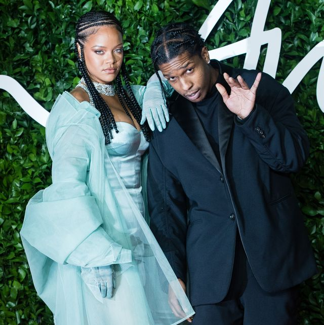 london, england   december 02  rihanna and asap rocky arrive at the fashion awards 2019 held at royal albert hall on december 02, 2019 in london, england photo by samir husseinwireimage