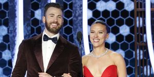 Golden Globe Awards - Scarlett Johansson and Chris Evans