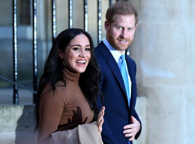 london, united kingdom   january 07 prince harry, duke of sussex and meghan, duchess of sussex react after their visit to canada house in thanks for the warm canadian hospitality and support they received during their recent stay in canada, on january 7, 2020 in london, england photo by daniel leal olivas    wpa poolgetty images
