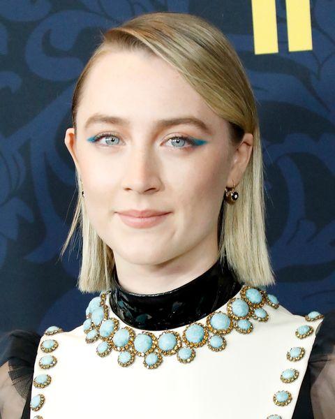 Saoirse Ronan 'Little Women' Premiere Blue Eyeshadow