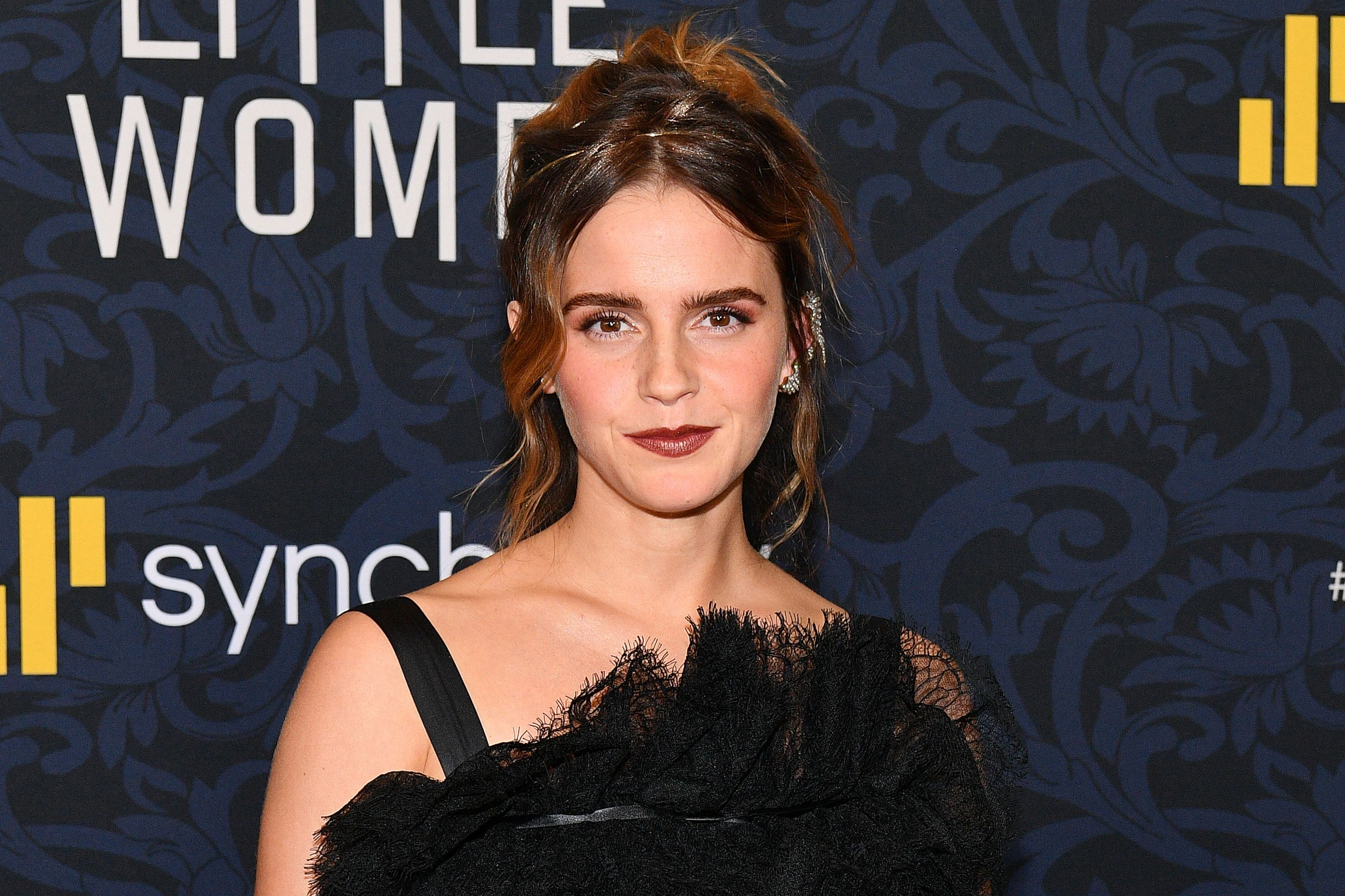 Emma Watson Adds Unusual Styling Trick To Gothic Balenciaga Dress At Little Women Premiere