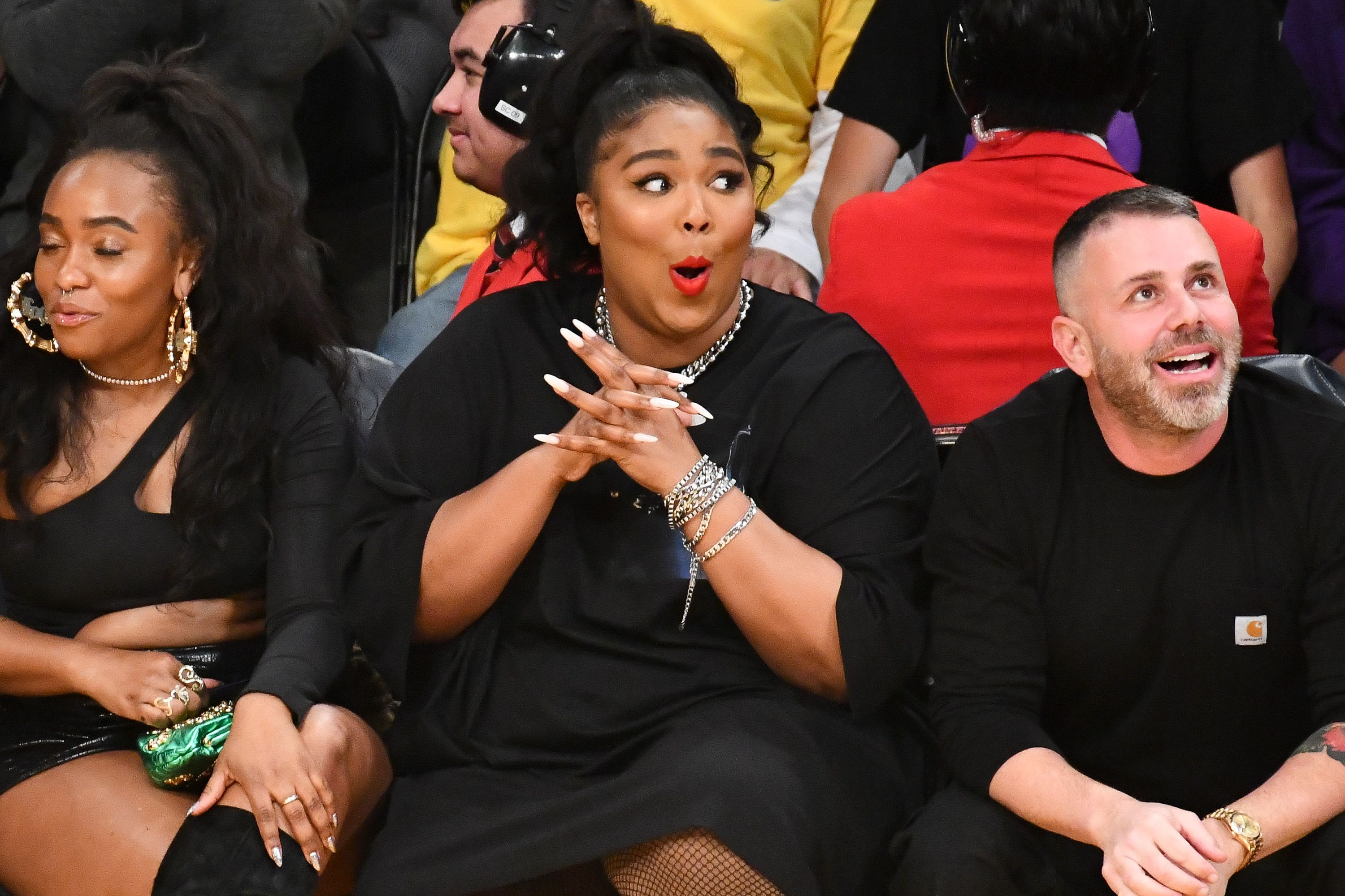 Lizzo Went to a Lakers Game In a Thong-Baring Cut-Out Dress