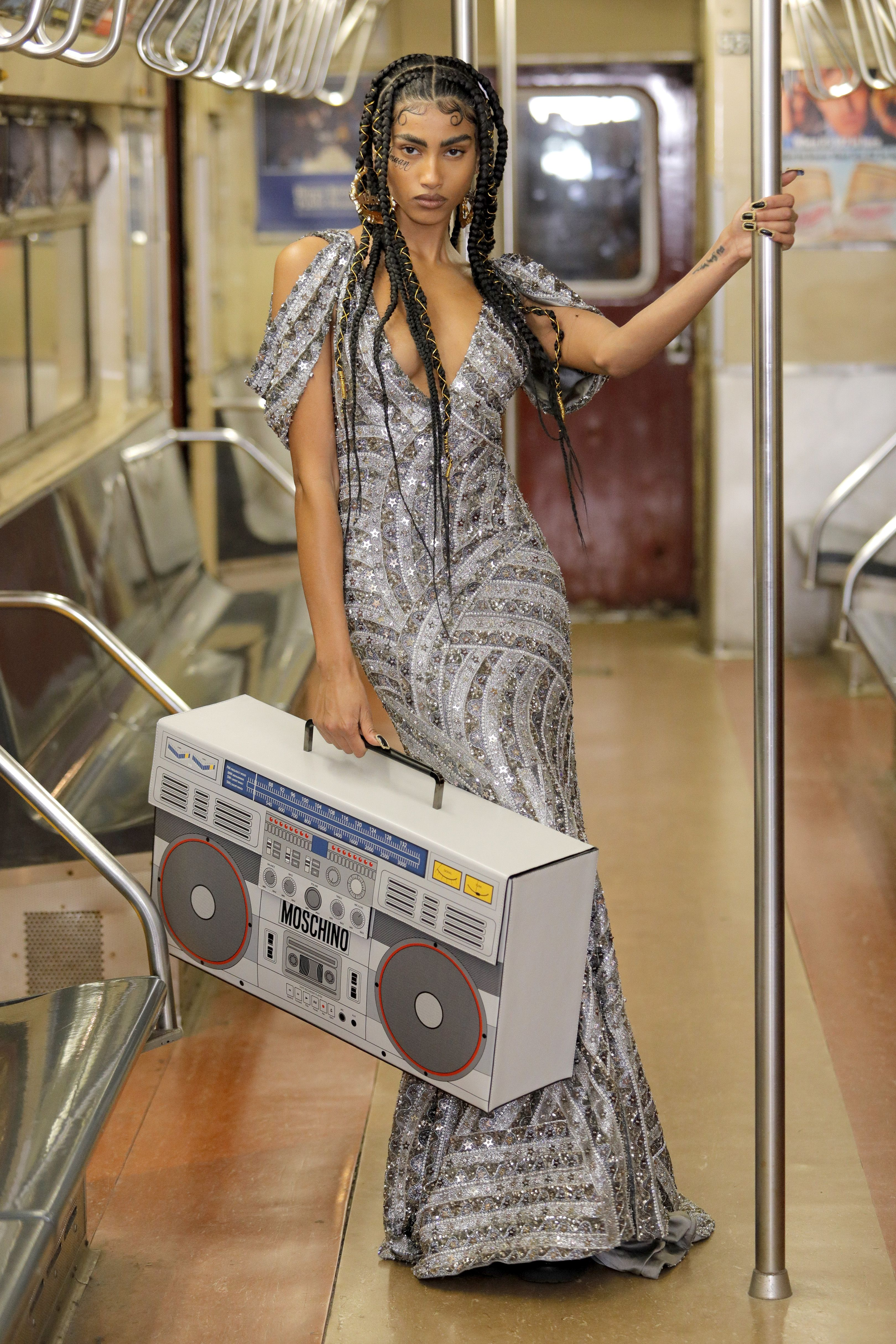 Moschino Makes the Subway Look Chic
