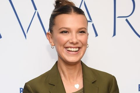 new york, new york   december 11 millie bobby brown attends the 2019 wwd beauty inc awards at the rainbow room on december 11, 2019 in new york city photo by dimitrios kambourisgetty images