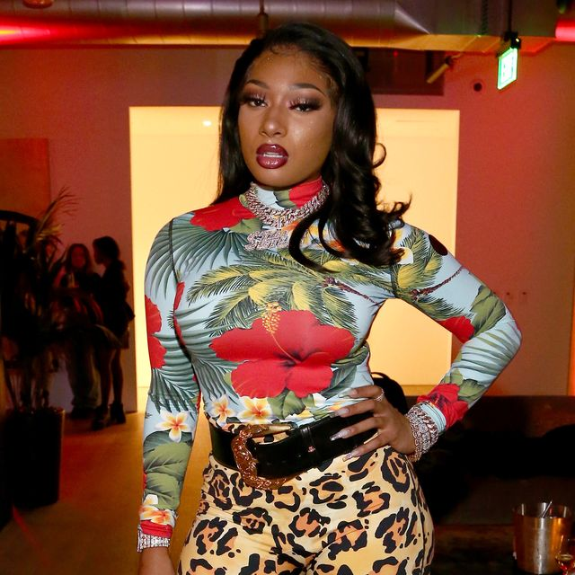 los angeles, california   december 11 editors note retransmission with alternate crop megan thee stallion attends a celebration of the fearless women in music hosted by youtube music and megan thee stallion at spring studios on december 11, 2019 in los angeles, california photo by tommaso boddigetty images