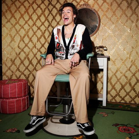 los angeles, california   december 11 harry styles attends spotify celebrates the launch of harry styles new album with private listening session for fans on december 11, 2019 in los angeles, california photo by rich furygetty images for spotify