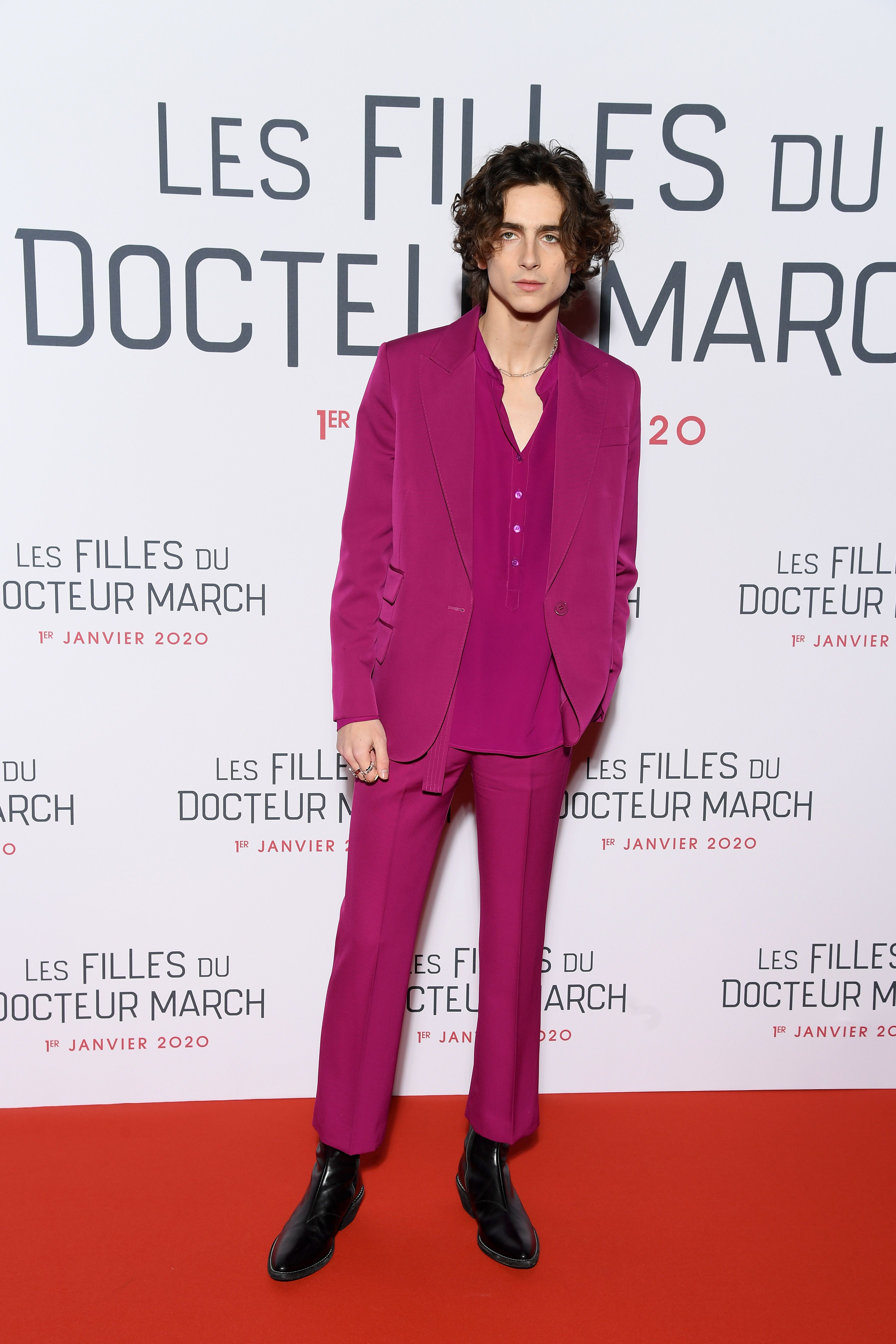 Timothée Chalamet Knows How to Wear a Pink Suit Better Than Most