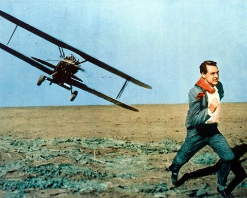 cary grant 1904–1986 running as he comes under attack from a biplane under attack in an iconic scene issued as a publicity still for the film, north by northwest, usa, 1959 the 1959 film, directed by alfred hitchcock 1899–1980, starred grant as roger thornhill photo by silver screen collectiongetty images