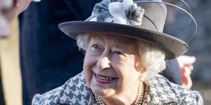 The Queen Attends Church At Hillington In Sandringham