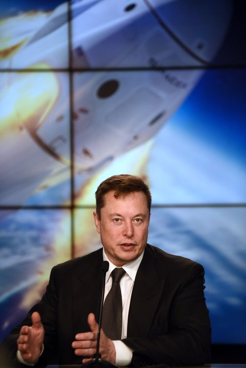 january 19, 2020   kennedy space center, florida, united states   spacex ceo elon musk speaks at a press conference following the successful in flight abort test of the spacex falcon 9 rocket and crew dragon capsule on january 19, 2020 at the kennedy space center in florida  photo by paul hennessynurphoto via getty images