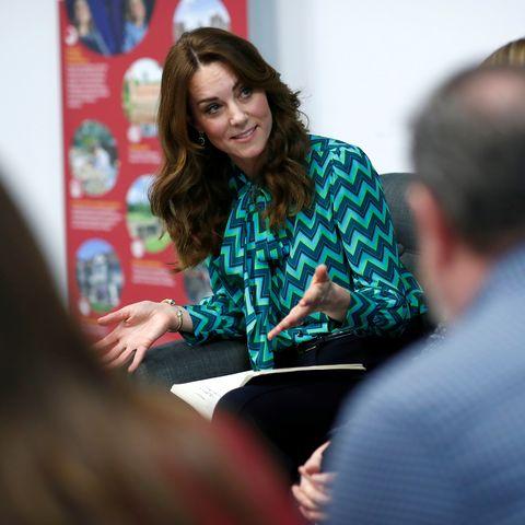 Kate Middleton wows in striking green 70s blouse