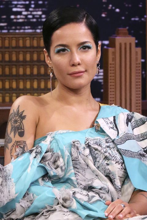 the tonight show starring jimmy fallon    episode 1193    pictured singer halsey during an interview on january 22, 2020    photo by andrew lipovskynbcnbcu photo bank via getty images