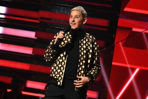 us comedian ellen degeneres introduces lil nas x and billy ray cyrus during the 62nd annual grammy awards on january 26, 2020, in los angeles photo by robyn beck  afp photo by robyn beckafp via getty images