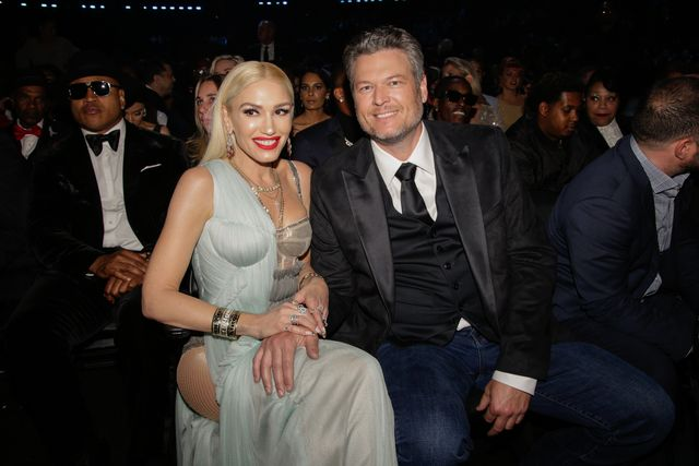los angeles   january 26 blake shelton and gwen stefani appear at the 62nd annual grammy® awards, broadcast live from the staples center in los angeles, sunday, january 26th 800 1130 pm, live et500 830 pm, live pt on the cbs television network photo by francis speckercbs via getty images