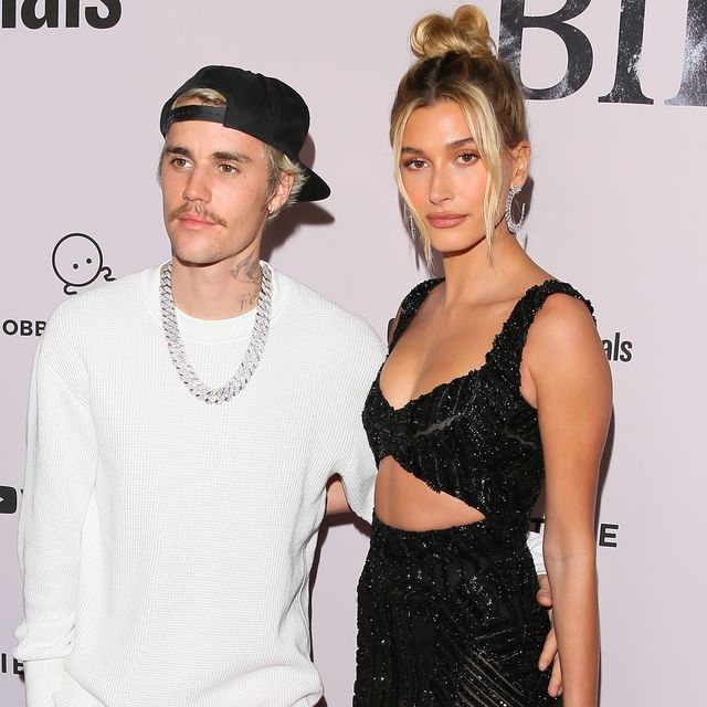 los angeles, california   january 27 justin bieber and hailey bieber attend the premiere of youtube originals justin bieber seasons at regency bruin theatre on january 27, 2020 in los angeles, california photo by jean baptiste lacroixfilmmagic