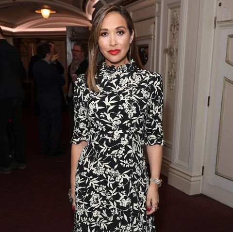 """london, england   january 29 myleene klass attends the press night performance of the english national opera's """"carmen"""" at the london coliseum on january 29, 2020 in london, england photo by david m benettdave benettgetty images"""
