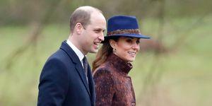 Kate Middleton en Prins William bij Sunday Church Service in Sandringham