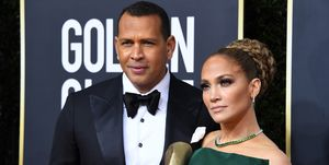 Alex Rodriguez and Jennifer Lopez - Golden Globes