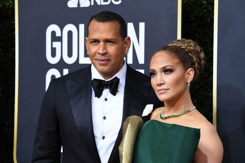 Alex Rodriguez and Jennifer Lopez - Golden Globes