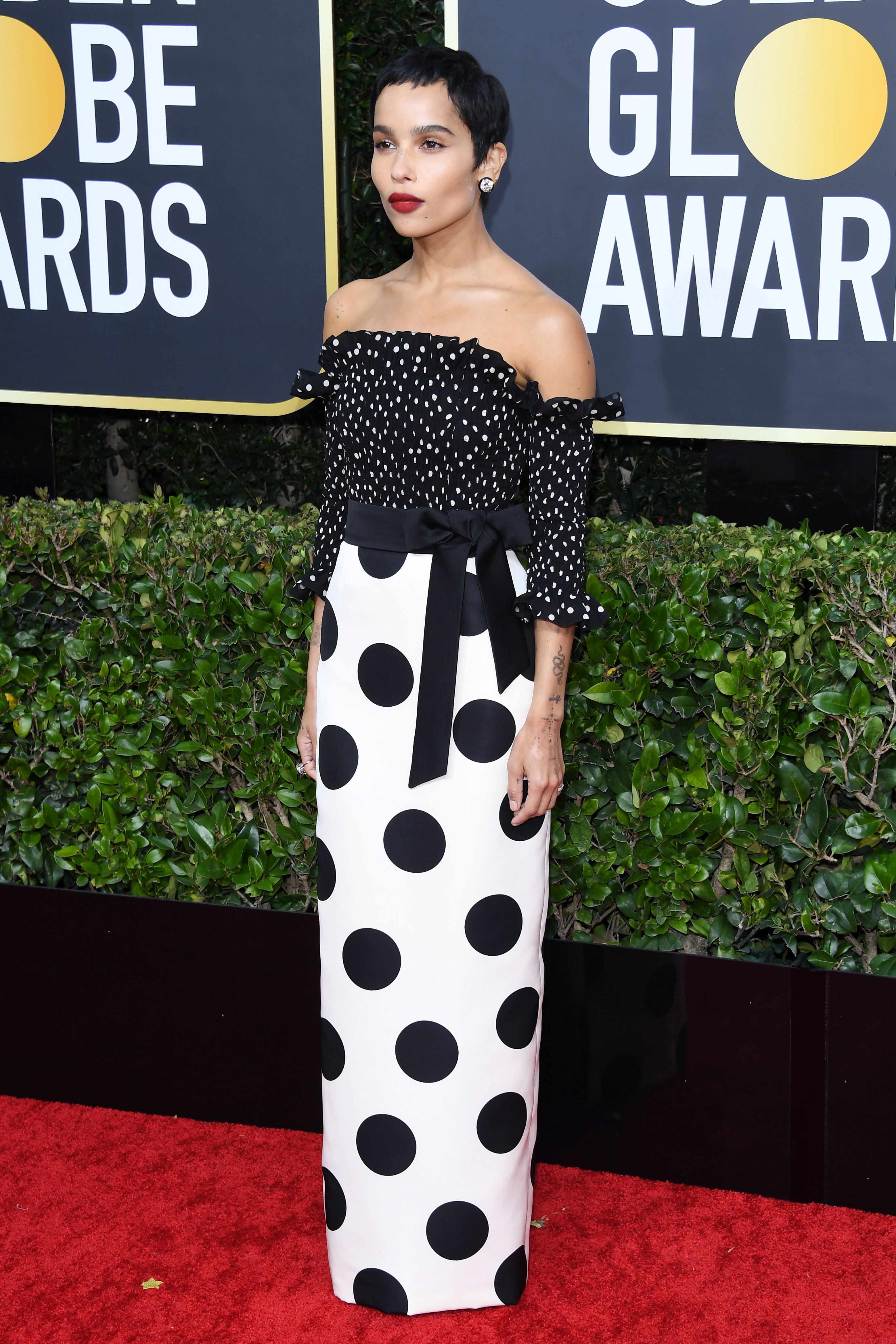 Zoë Kravitz Wore the Perfect Red Lip to the Golden Globes and Her Makeup Artist Shared the Details