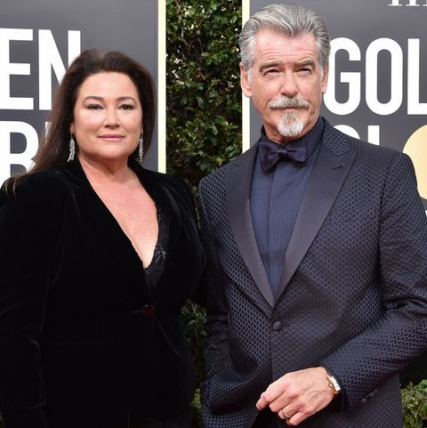beverly hills, california   january 05 keely shaye smith and pierce brosnan attend the 77th annual golden globe awards at the beverly hilton hotel on january 05, 2020 in beverly hills, california photo by axellebauer griffinfilmmagic
