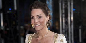 kate middleton duchess of cambridge baftas alexander mcqueen