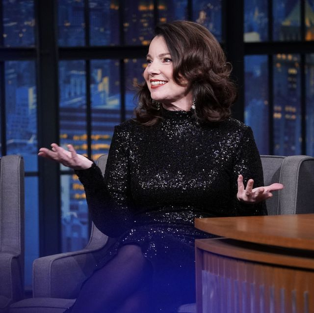 late night with seth meyers    episode 946    pictured l r actress fran drescher during an interview with host seth meyers on february 3, 2020    photo by lloyd bishopnbcnbcu photo bank via getty images