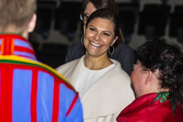 eskilstuna, sweden   february 05 crown princess victoria of sweden attends the folk and culture 2020 festival at stiga sports arena on february 5, 2020 in eskilstuna, sweden photo by michael campanellagetty images