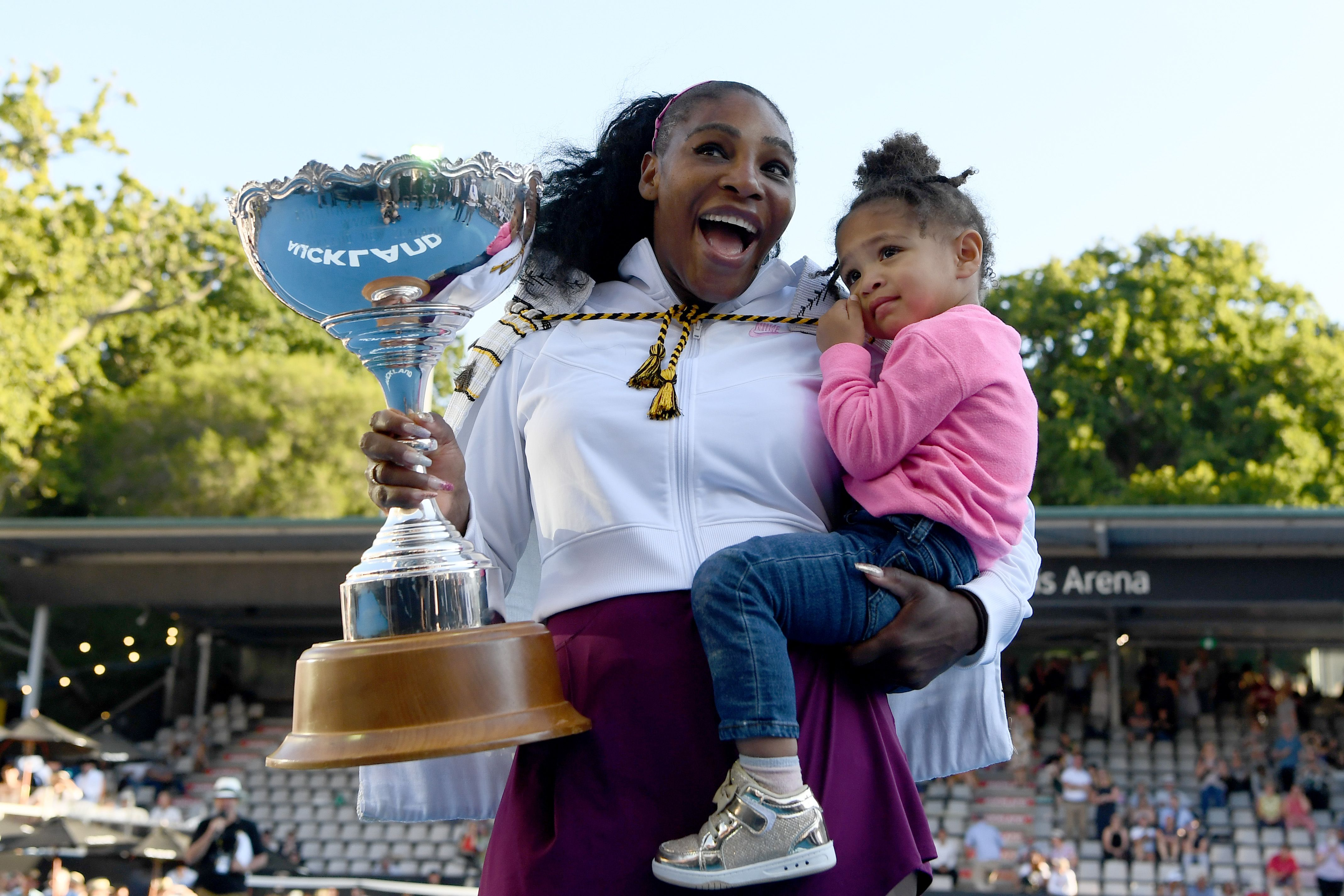 Please Enjoy These Adorable Videos of Serena Williams Giving Daughter Olympia a Tennis Lesson