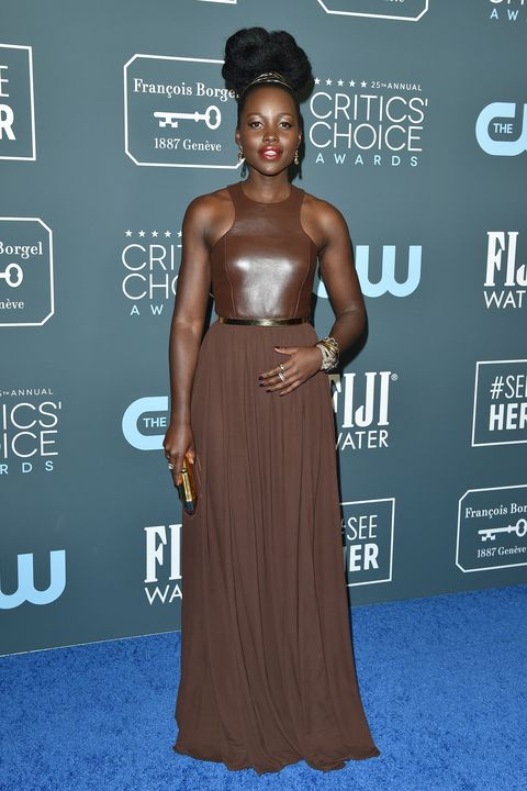 santa monica, california   january 12 lupita nyongo attends the 25th annual critics choice awards at barker hangar on january 12, 2020 in santa monica, california photo by axellebauer griffinfilmmagic
