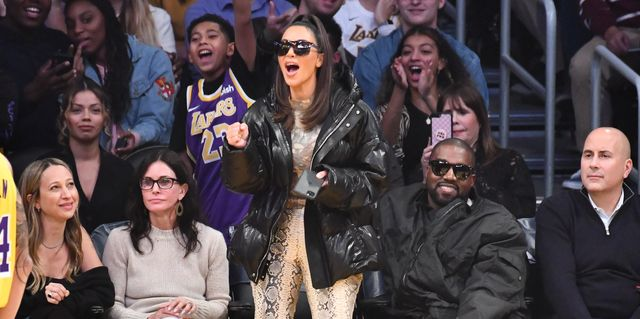 Kim Kardashian Seemingly Spotted Booing Tristan Thompson While Sitting Courtside at Cavs vs. Lakers Game